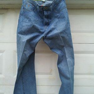 Rocawear denim blue jeans men's 42 by 32
